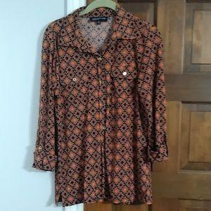 Jones New York sz M button down blouse